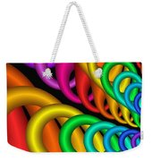 Fractalized Colors -5- Weekender Tote Bag by Issabild -