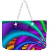 Fractalized Colors -6- Weekender Tote Bag by Issabild -