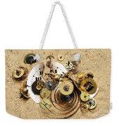 Fragmented Clockwork In The Sand Weekender Tote Bag
