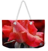 Fragmented Pink Rose Weekender Tote Bag
