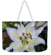 Fragrant White Lily Weekender Tote Bag