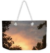 Framed Fire In The Sky Weekender Tote Bag