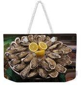 France, Paris Oysters On Display Weekender Tote Bag