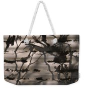 France, Paris, Tree Branches Reflected Weekender Tote Bag