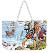 Francis Drake And The Golden Hind Weekender Tote Bag