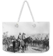 Francisco Pancho Villa (1878-1923). Mexican Revolutionary Leader. Photographed While Reviewing Troops, C1914 Weekender Tote Bag