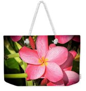 Frangipani Blossom Weekender Tote Bag