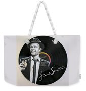 Frank Sinatra Portrait On Lp Weekender Tote Bag
