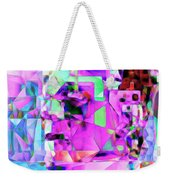 Frankenstein In Abstract Cubism 20170407 Square Weekender Tote Bag