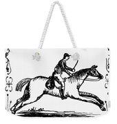 Franklin: Post Rider, 1775 Weekender Tote Bag
