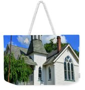 Franklin Square Church Vertical Weekender Tote Bag