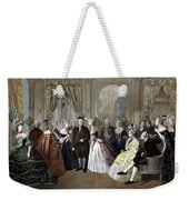 Franklin's Reception At The Court Of France Weekender Tote Bag