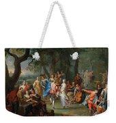 Franz Christoph Janneck Graz 1703-1761 Vienna A Dance In The Palace Gardens, Weekender Tote Bag
