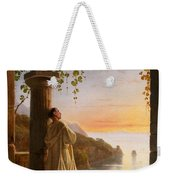 Franz Ludwig Catel  A Monk Meditating In A Cloister Weekender Tote Bag