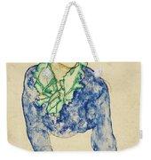 Frauenbildnis Mit Blauem Und Grunem Weekender Tote Bag
