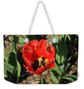 Frayed Tulip Weekender Tote Bag