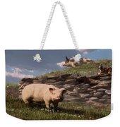 Free Range Pigs Weekender Tote Bag