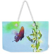 Free To Fly - Butterfly In Flight Weekender Tote Bag