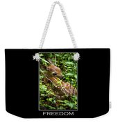 Freedom Inspirational Motivational Poster Art Weekender Tote Bag by Christina Rollo