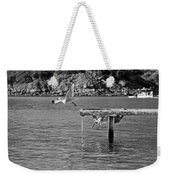 Freedom Is A Seagull Name Black And White Weekender Tote Bag