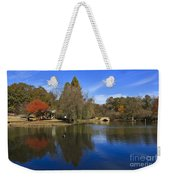 Freedom Park Bridge And Lake In Charlotte Weekender Tote Bag