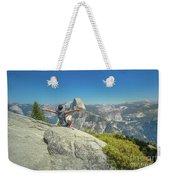 Freedom Woman At Glacier Point Weekender Tote Bag