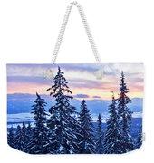 Freezing Sunset 14 Weekender Tote Bag