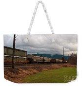 Freight Rain Weekender Tote Bag