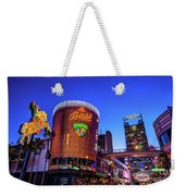 Fremont Street Entrance From The East At Dusk Weekender Tote Bag