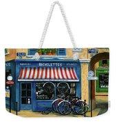 French Bicycle Shop Weekender Tote Bag