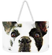 French Bulldog Art - High Contrast Weekender Tote Bag by Sharon Cummings