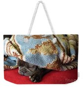 French Bulldog Naps Under A Blanket-1 Weekender Tote Bag