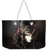 French Bulldog On The Couch Weekender Tote Bag