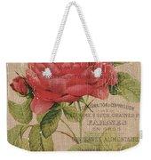 French Burlap Floral 1 Weekender Tote Bag