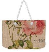 French Burlap Floral 2 Weekender Tote Bag