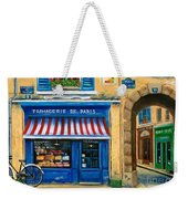 French Cheese Shop Weekender Tote Bag by Marilyn Dunlap