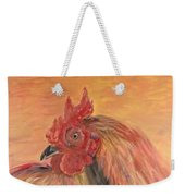 French Country Rooster Weekender Tote Bag by Nadine Rippelmeyer
