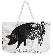 French Farm Sign Piglet Weekender Tote Bag