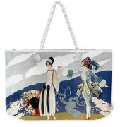 French Fashion Ad, 1923 Weekender Tote Bag