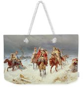 French Forces Crossing The River Berezina In November 1812 Weekender Tote Bag