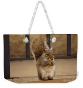 French Fry Eating Squirrel Weekender Tote Bag
