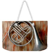 French Horn Hanging On Wall Weekender Tote Bag