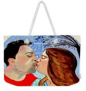 French Kissing At The Eiffel Tower Weekender Tote Bag