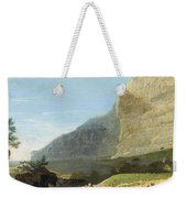 French Master 1st Half Of Th 19th Century   Rocky Cliff Off Shore Weekender Tote Bag