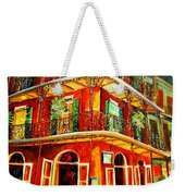 French Quarter Corner Weekender Tote Bag