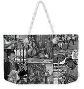French Quarter Musicians Collage Bw Weekender Tote Bag