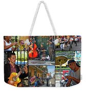 French Quarter Musicians Collage Weekender Tote Bag
