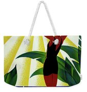 French Riviera, Girl On The Beach, France Weekender Tote Bag