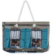 Shuttered Windows And Flowers Weekender Tote Bag