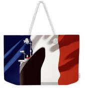 French Shipping Line Poster Weekender Tote Bag